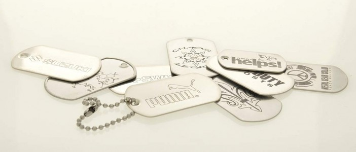 LASER-ENGRAVED STAINLESS STEEL DOG TAGS