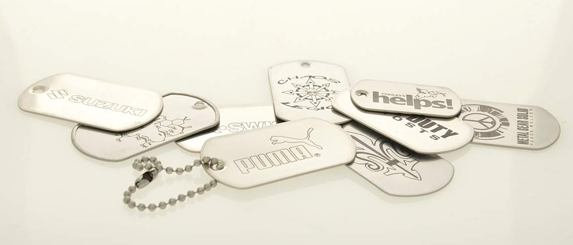 Dog Tags mit Lasergravur