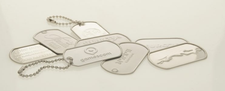 EMBOSSED LOGO DOG TAGS